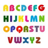 Colorful Alphabet. Illustration of set of abc alphabet with colorful pattern Stock Photos