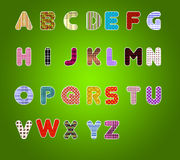 Colorful Alphabet. Made from texture Royalty Free Stock Photos