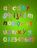Colorful Alphabet. Made from texture Royalty Free Stock Image