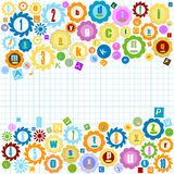 Colorful alphabet. Very colorful alphabet for kids Royalty Free Stock Images
