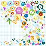 Colorful alphabet. Colorful background with alphabet theme for kids Royalty Free Stock Photography