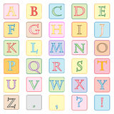 Colorful alphabet. Isolated on white illustration Royalty Free Stock Image