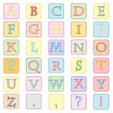 Colorful alphabet. Isolated on white illustration Royalty Free Illustration