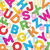 Colorful alphabet background royalty free illustration