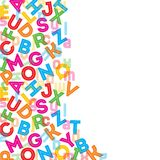 Colorful alphabet background Stock Image