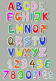 Colorful alphabet Royalty Free Stock Images