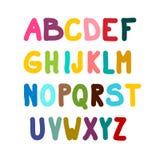 Colorful Alphabet Isolated. On White Background royalty free illustration