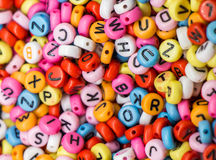 Colorful alphabet letter cubes. In view Stock Image