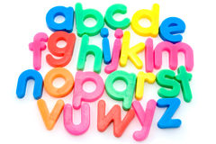 Colorful alphabet letters. Colorful alphabet letters isolated on white background Royalty Free Stock Image