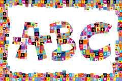 Colorful alphabet letters ABC Stock Images