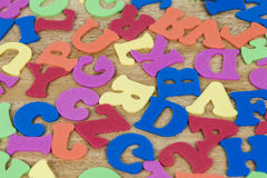 Colorful alphabet letters Stock Photography