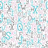 Colorful alphabet letters seamless pattern Stock Photography