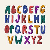 Colorful alphabet letters with shadow. Stock Image
