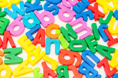Colorful Alphabet Letters on White Stock Image