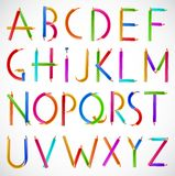Colorful alphabet of pencils. Vector Stock Photography