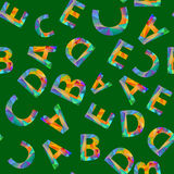 Colorful Alphabet Seamless Pattern. Royalty Free Stock Image
