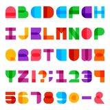 Colorful Alphabet Vector Font royalty free illustration