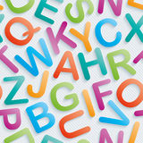 Colorful alphabet wallpaper. Stock Photo