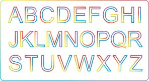 Colorful Alphabets Royalty Free Stock Photo