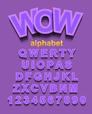 Colorful Alphapet Font to use for children's parties invitation Royalty Free Stock Photo