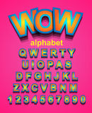 Colorful Alphapet Font to use for children's parties invitation Stock Photos