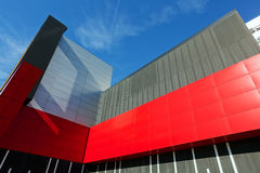 Colorful aluminum facade on large shopping mall Stock Images