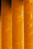 Colorful aluminum facade on large shopping mall Royalty Free Stock Images