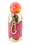 Colorful aluminum water flask Royalty Free Stock Photography