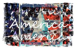 Colorful American Flag Art Stock Photo