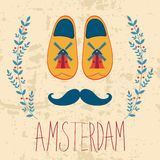 Colorful Amsterdam composition Royalty Free Stock Photos