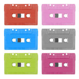 Colorful analogue cassette tape Royalty Free Stock Photo
