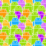 Colorful Android Mob Seamless Royalty Free Stock Photography