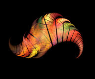 Colorful angel wing. Fractal graphics Stock Image