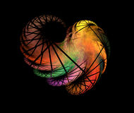 Colorful angel wing. Fractal graphics Royalty Free Stock Photography