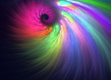 Colorful angel wing. Fractal graphics Stock Photos