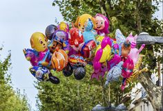Colorful Balloons with Helium Stock Image