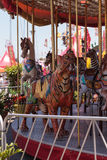 Colorful animal carousel carnival ride Royalty Free Stock Photos