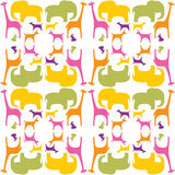 Colorful_animals_pattern Royalty Free Stock Photos