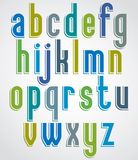 Colorful animated font, comic lower case letters with white outl Stock Photography