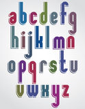 Colorful animated font, rounded lowercase letters with white out Royalty Free Stock Photography