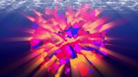 Colorful animated sphere, underwater. 4K, seamless loop. 3D animation. Seamless loop UHD stock footage