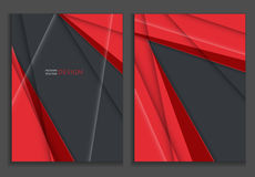 Colorful annual report templates Royalty Free Stock Photos