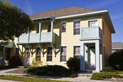 Colorful apartment building. Neat Attractive rental property in urban area royalty free stock photography