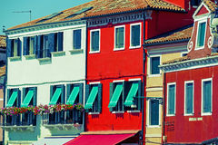 Colorful apartment building in Burano, Italy Royalty Free Stock Photo