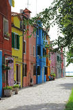 Colorful apartment building in Burano, Venice, Italy. Italy. Colorful apartment building in Burano, Venice Stock Photography