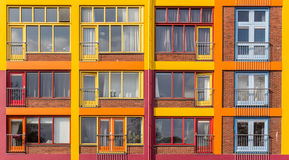 Colorful apartment building Stock Image