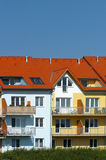 Colorful apartment buildings Royalty Free Stock Images