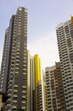 Colorful apartment buildings Royalty Free Stock Photos