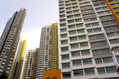 Colorful apartment buildings Stock Images