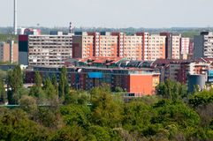 Colorful apartment buildings Royalty Free Stock Photo
